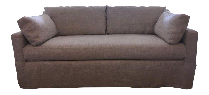 Restoration Hardware Belgian Track Arm Linen Sofa  sc 1 st  Chairish : sectional sofas for sale by owner - Sectionals, Sofas & Couches