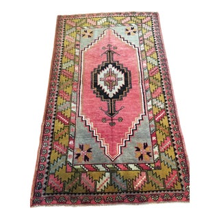 "Antique Anatolian Turkish Ortakoy Rug - 3'7"" x 6'5"""