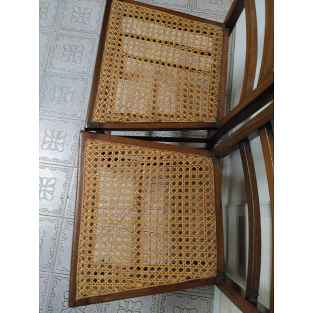 Cane Seat Wood Chairs - A Pair - Image 6 of 10