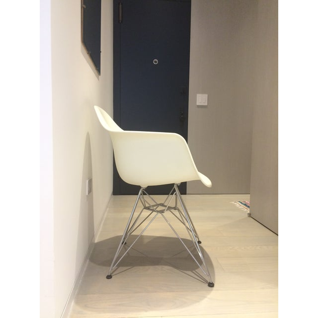 Eames White Molded Armchairs - A Pair - Image 4 of 9