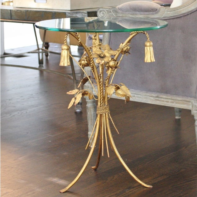 Vintage Italian Gilt Tassel & Rope Table - Image 4 of 5
