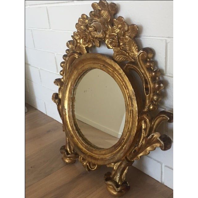 Antique Carved Gold Mirror - Image 2 of 9