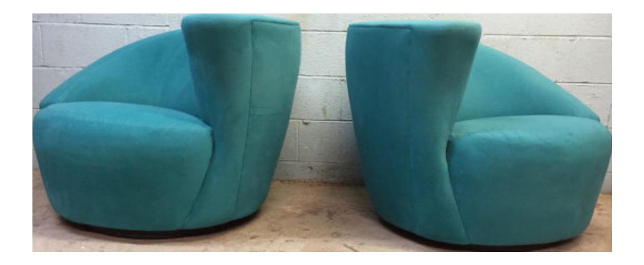 Modern Directional Vladimir Kagan Nautilus Chairs   A Pair   Image 1 Of 3