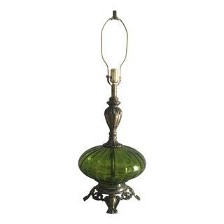Regency Emerald Glass Lamp