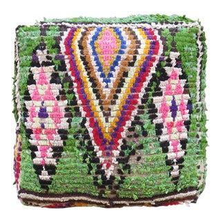 Moroccan Green & Pink Floor Pillow