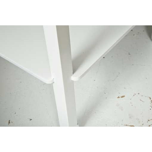 Mid-Century Table in White Lacquer - Image 5 of 7