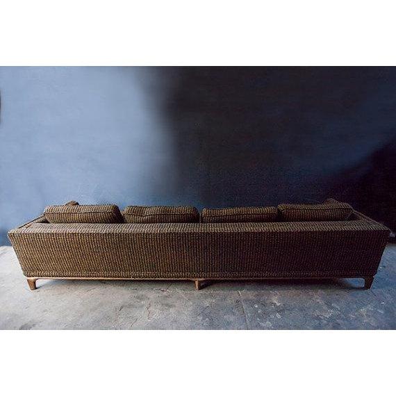Monteverdi-Young Mid-Century Black Mustard Wool Herringbone Sofa - Image 4 of 7