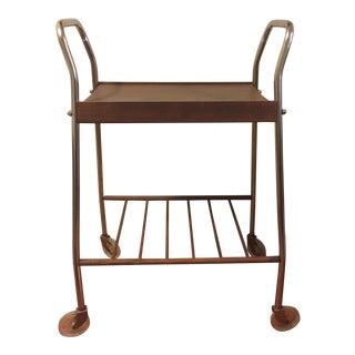 Mid-Century Wheeled Bar Cart
