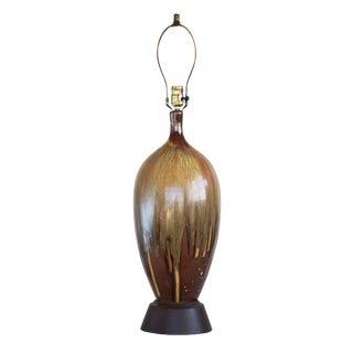 Brown Ceramic Drip Glaze Table Lamp