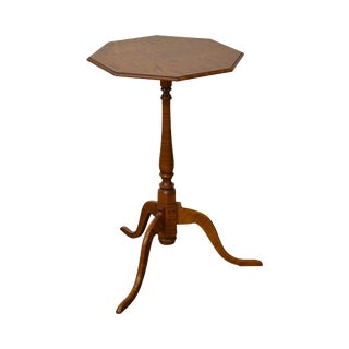Eldred Wheeler Tiger Maple Snake Foot Candle Stand
