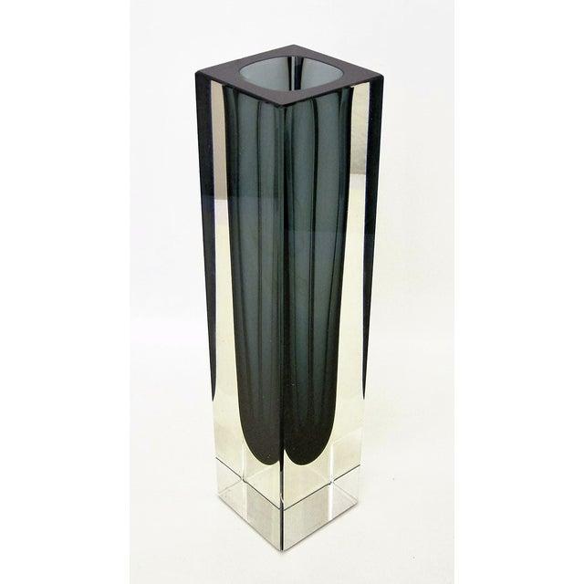Italian Mandruzzato Murano Mid-Century Modern Gray Glass Vase MCM - Image 6 of 11