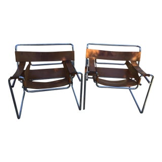 Vintage Mid-Century Wassily Chairs - A Pair