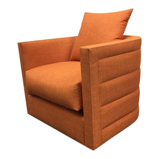 New Nathan Anthony Orange Swivel Chair