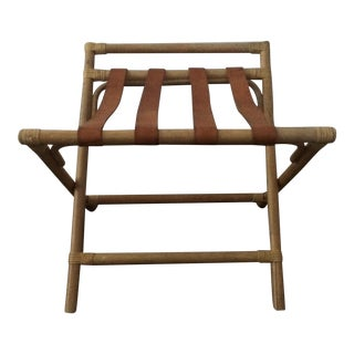 Vintage Bamboo Luggage Rack