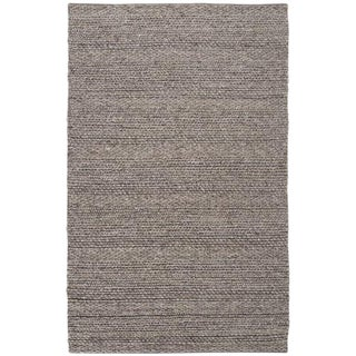 Hand Woven Brown Wool Rug - 9' x 13'