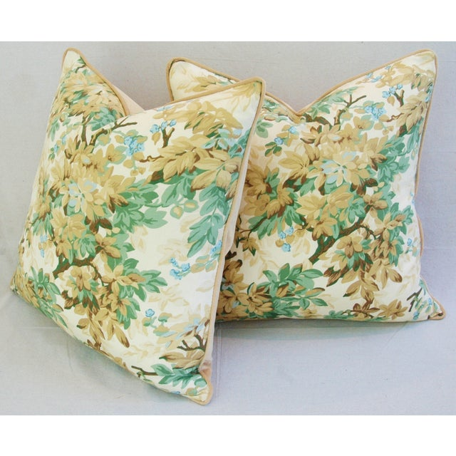 Designer Brunschwig & Fils Foliage Pillows - Pair - Image 11 of 11