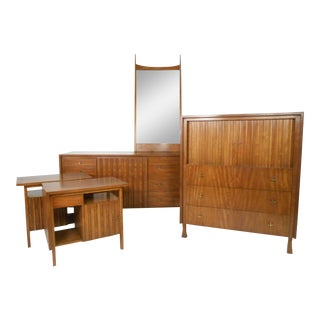 Mid-century Modern Bedroom Set by John Widdicomb - Set of 5