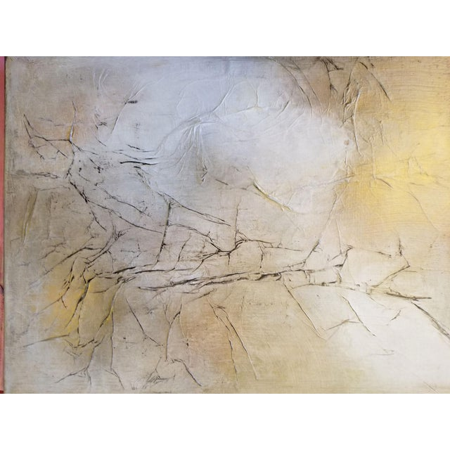 Modern Abstract Metallic Textured Painting - Image 3 of 4