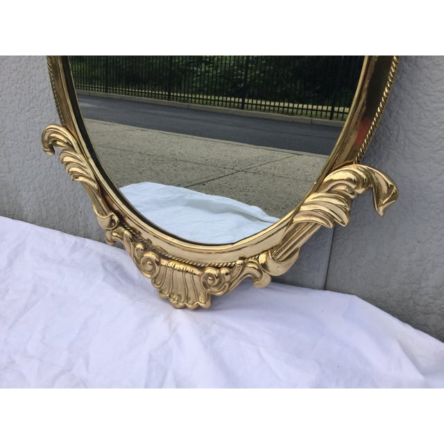1970's French Style Brass Mirror - Image 6 of 9