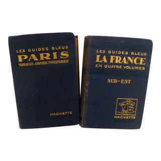 1929 Paris, France Blue Travel Guides - Pair