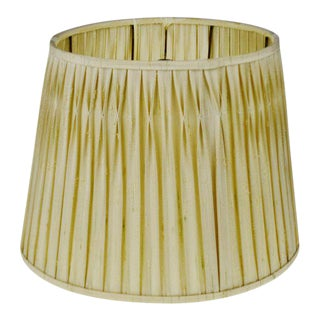 Vintage Pleated Fabric Tapered Lamp Shade