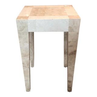 Tessellated Bone End Table