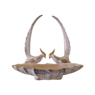 Mid Century Modern Ceramic Birds and Planter