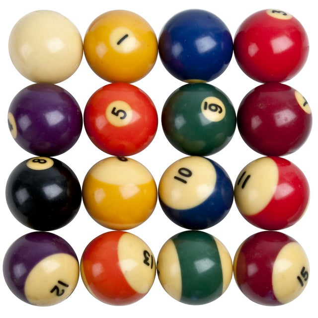 Image of Hyatt Lifetimer Billiard Balls - Set of 16