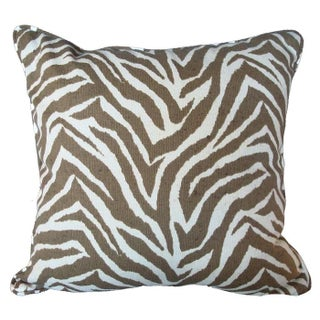 Animal Print Zebra Pillow