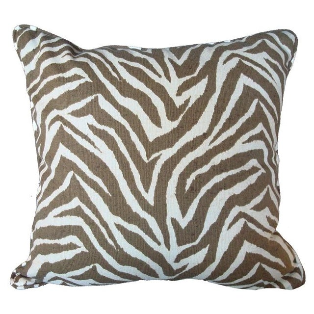 Animal Pillow Prints : Sunbrella Animal Print Zebra Pillow Chairish