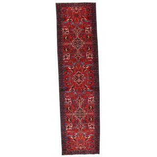 Persian Karajeh Heriz Hand-Knotted Rug - 3′2″ × 10′2″
