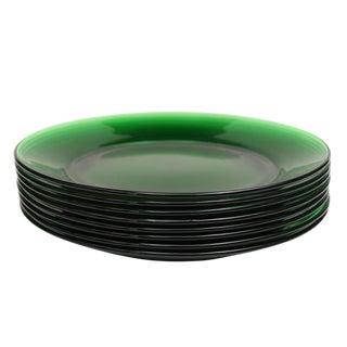 Emerald Green Dessert Plates - Set of 8