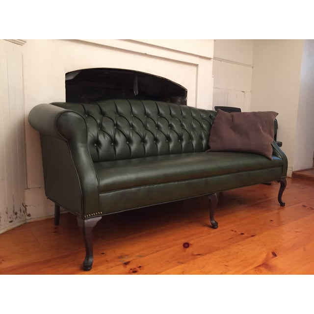 Dark Green Sofa: Dark Green Reclaimed Chesterfield Sofa