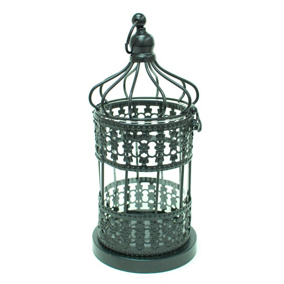 Metal Cage Lanterns - Set of 2 - Image 3 of 5