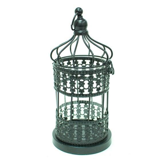 Image of Metal Cage Lanterns - Set of 2