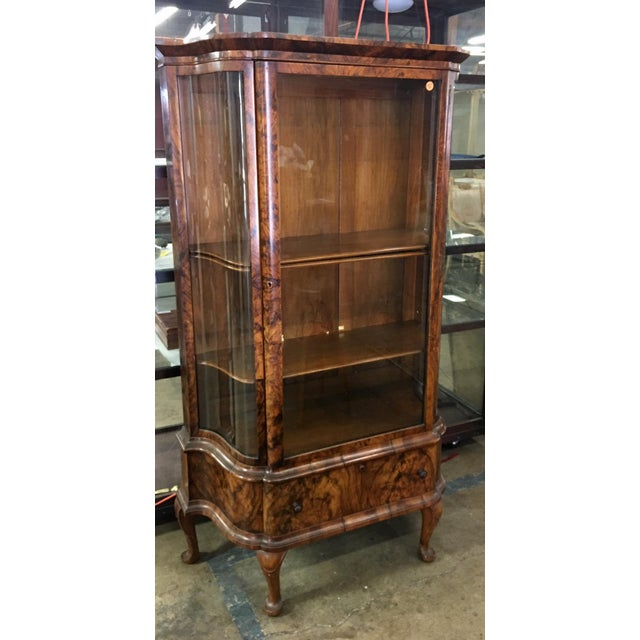 Antique Biedermeier Vitrine Cabinet w Exotic Mahogany - Image 5 of 5