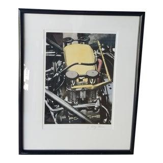 Porche Engine Lithograph Artwork