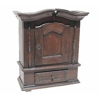 1690 Antique English Jacobean Wall Cupboard
