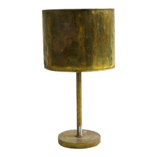 French Bronze Table Lamp with Bronze Shade