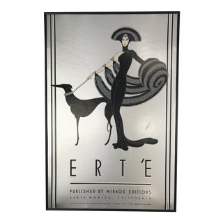 1980 Signed Erté Symphony in Black Mirage Edition Serigraph