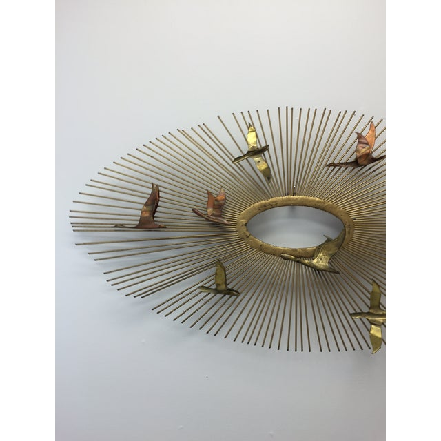 Curtis Jere Sunburst With Birds Wall Sculpture - Image 4 of 8