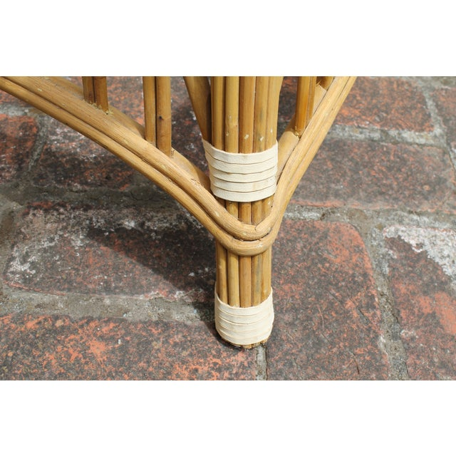 McGuire Rattan and Cane Dining Set - Image 9 of 10