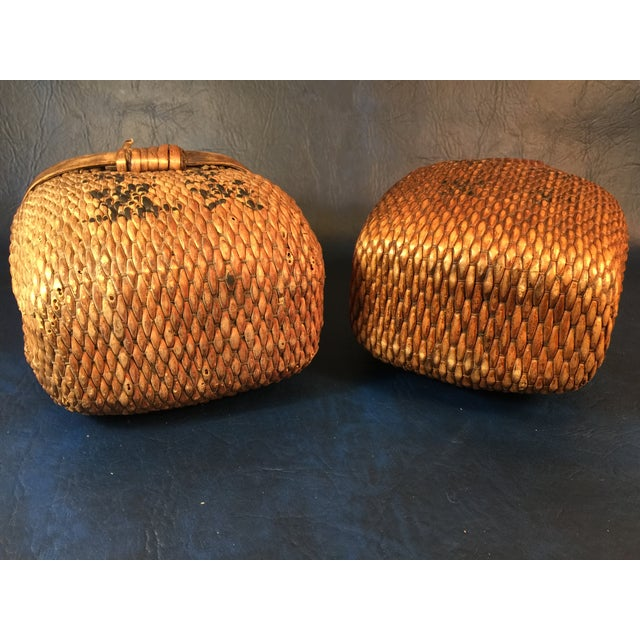 Japanese Covered Baskets - A Pair - Image 9 of 10