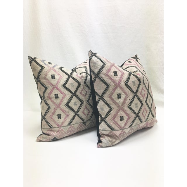 Large Chinese Wedding Blanket Pillows - a Pair - Image 3 of 9