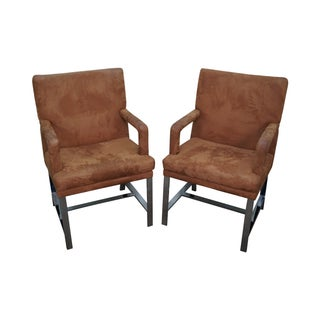 Milo Baughman Mid-Century Chrome Chairs - A Pair