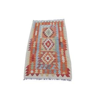 Afghani Dyed Kilim Rug - 2′8″ × 4′7″
