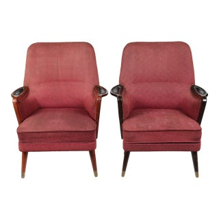 1960s Danish Modern-Style Armchairs - A Pair