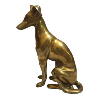 Vintage Solid Brass Whippet