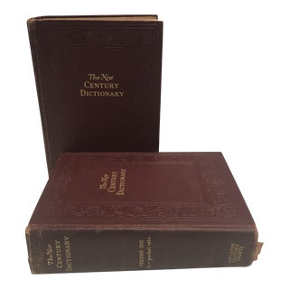 Leather Bound Dictionaries - A Pair