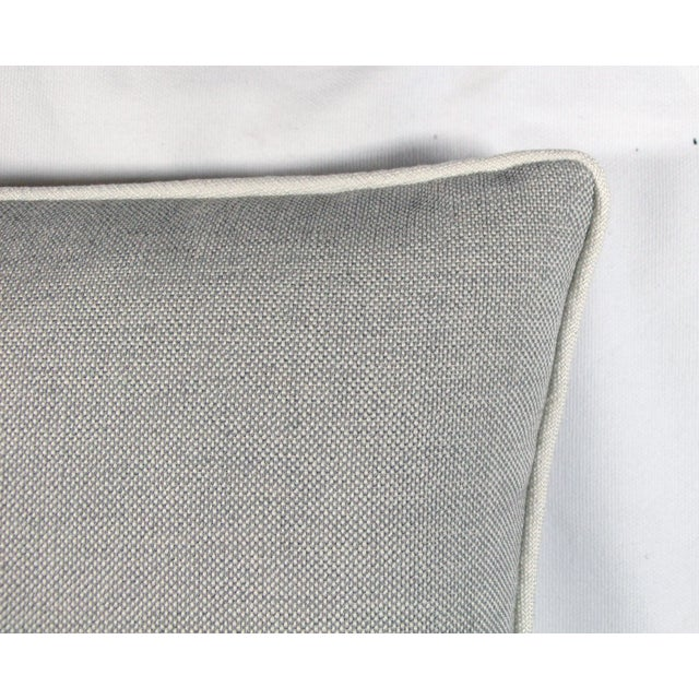 Image of Grey & White Linen Textured Pillow